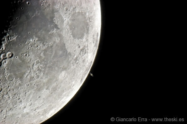 Moon and Saturn conjunction (with Fabio Di Giorgio) - Italy AZ  AltAz dobsonian - Nikon D80