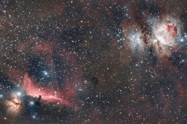 M42 (ORION NEBULA) + NGC 2024 + IC 434 (FLAME NEBULA + HORSEHEAD)