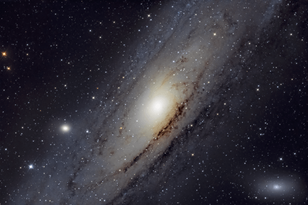 Andromeda Galaxy - M31 - UK HEQ5  Skywatcher HEQ5 autoguided - Altair Atro 8 inch Ritchey Chretien (1625mm) - Astro Tech 2 inch Field Flattener - Nikon D750