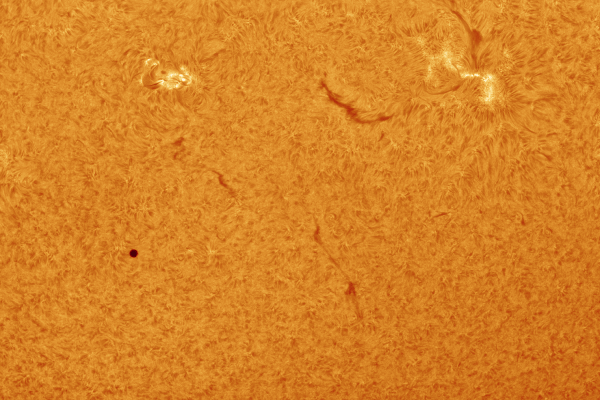 Sun in hydrogen alpha: Mercury transit 2 (PRINT AVAILABLE)