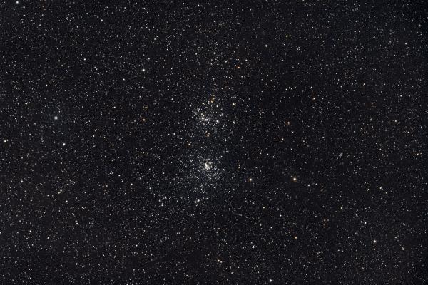 Perseus Double Cluster - NGC869 + NGC884 - UK HEQ5  Skywatcher HEQ5 autoguided - Skywatcher Esprit 100 F/5.5 Triplet Super APO (550mm) - SW 1x Doublet Field Flattener - Nikon D750