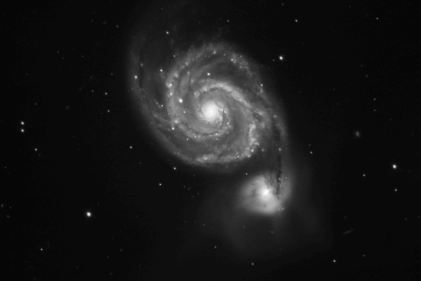 M51 Whirlpool Galaxy  Skywatcher HEQ5 autoguided - Altair Atro 8 inch Ritchey Chretien (1625mm) - Astro Tech 2 inch Field Flattener - ASI 174MM-COOL