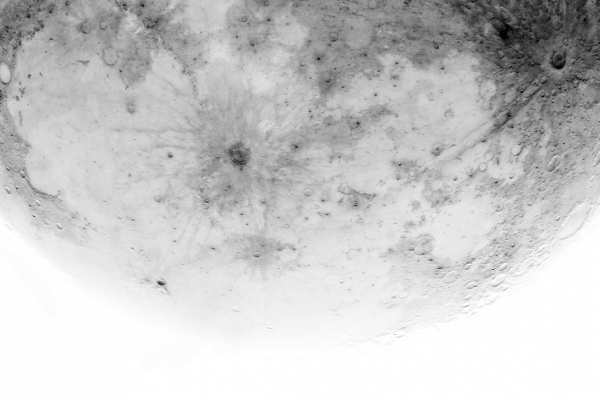 White Moon hires mosaic (PRINT AVAILABLE)