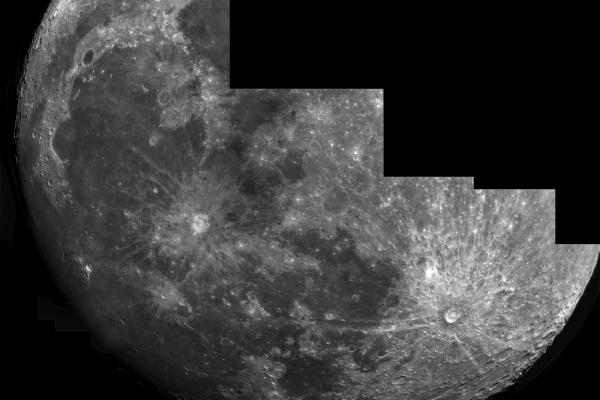Moon hires mosaic (PRINT AVAILABLE)